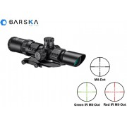 Прицел Barska SWAT-AR Tactical 1-4x28 (IR Mil-Dot R/G) + крепление